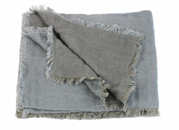 plaid en lin lav double toffe gris de la collection double par en fil d 39 indienne. Black Bedroom Furniture Sets. Home Design Ideas