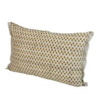 Coussin Indienne 35x50 cm Ocre Semis